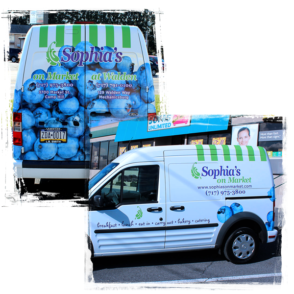Sophia's Delivery Van Graphics